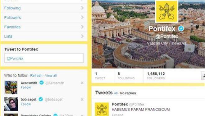 Το πρώτο tweet του νέου Πάπα