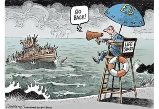 Το καυστικό σκίτσο των New York Times για την πολιτική της Ευρώπης για τους μετανάστες