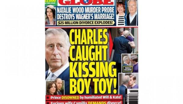 Περιοδικό δείχνει τον πρίγκιπα Κάρολο να φιλιέται με άνδρα στο στόμα