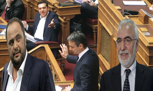 Μαρινάκης - Σαββίδης - Τσίπρας - Μητσοτάκης
