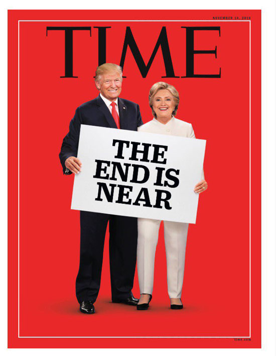 Ιστορικό εξώφυλλο για τις αμερικανικές εκλογές